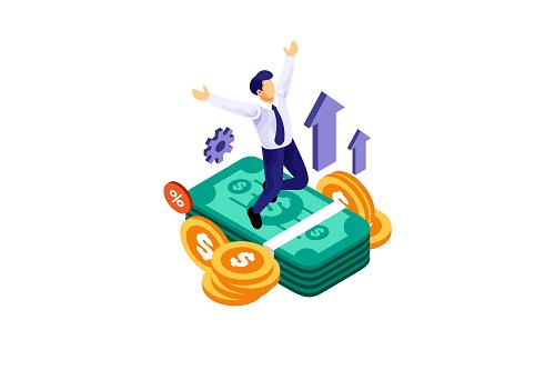 Isometric-Businessman-Successful-Financial-Illustration